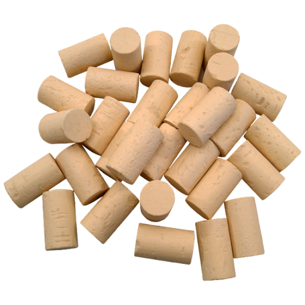 Cork stoppers for wine